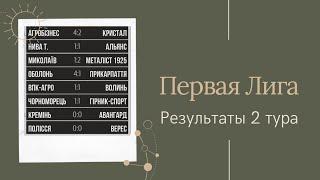 Первая Лига Украины 2 тур Обзор результаты матчей турнирная таблица