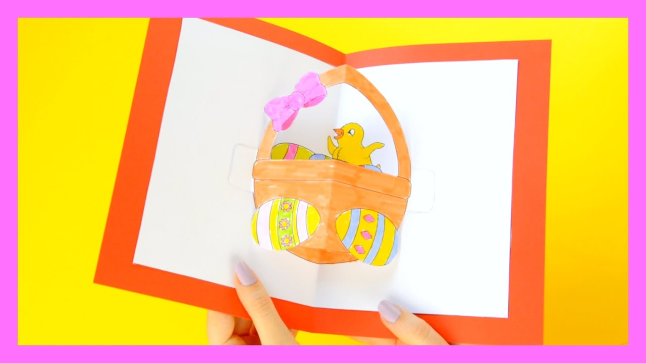 Diy Easter Pop Up Card Easter Craft For Kids Youtube