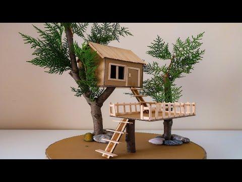 How to  Make Treehouse From Cardboard – Kartondan Ağaç Ev Nasıl Yapılır