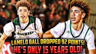 lamelo ball 92 point game insane or not impressed