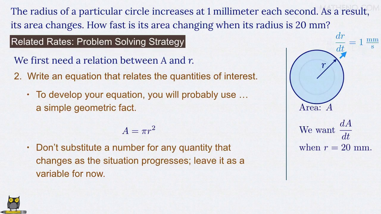 4 Steps to Solve Any Related Rates Problem - Part 1