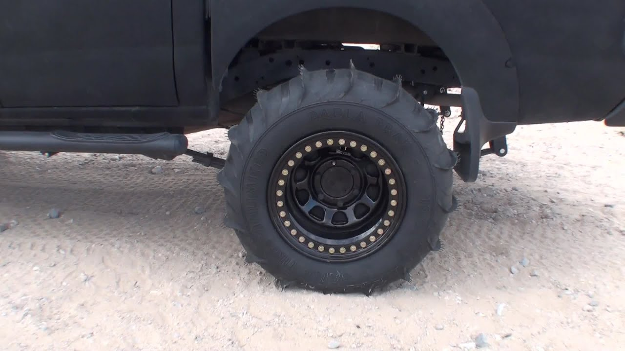 Truck Mud Tires >> 2003 2wd Nissan Frontier Truck with Sand Paddles at Nellis ...