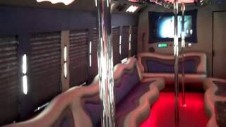 One awesome Limo bus interior - 888 - 672-1085