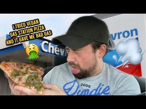 I TRIED VEGAN GAS STATION PIZZA AND IT GAVE ME BAD GAS ⛽️🍕🤢 💨