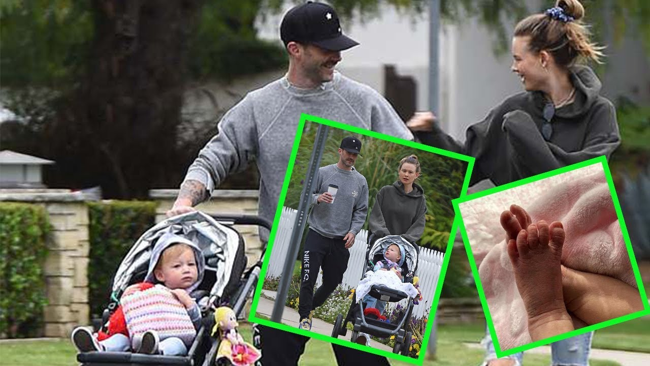 Adam Levine took a casual, Mother's Day stroll with Behati Prinsloo and their daughter Dusty Rose