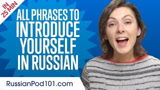 ALL Phrases to Introduce Yourself like a Native Russian Speaker