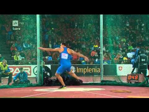 Men´s Discus Throw Final European Championships Zürich, Swit