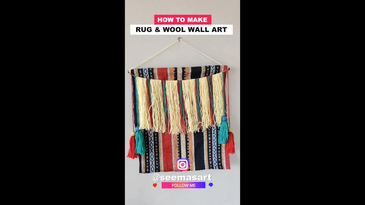 How to Make Rug & Wool wallart | Innovative Art