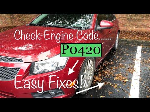 2013 Chevrolet Cruze P0420 Check Engine Code Easy Cheap Fix