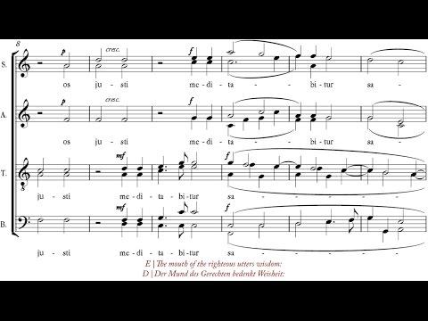 Bruckner   Os justi [á 4-8; Voces8]