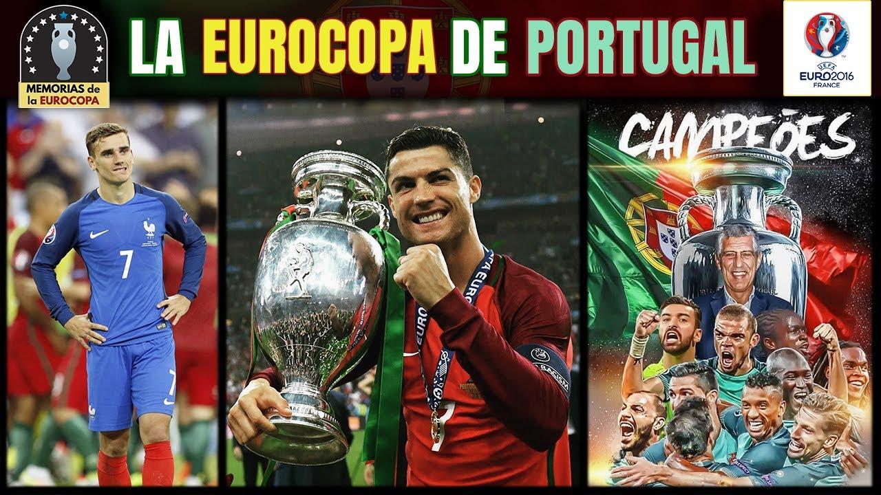 EURO 2016 🏆🇵🇹 PORTUGAL y CRISTIANO RONALDO Campeones de la EUROCOPA de Francia | Historia Eurocopa