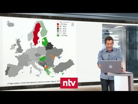 Aktuelle Zahlen zur Corona-Krise - In einigen Urlaubsländern besteht erhöhtes Infektionsrisiko   ntv