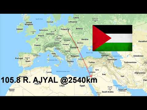 PALESTINE FM radio via 2500km Sporadic E! (FM DX)