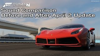 Forza Motorsport 7 - Ferrari 488 GTB Sound Comparison - Before and After April 2 Update