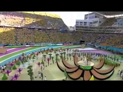 WM 2014 Brazil Song Pitbull feat Jennifer Lopez Claudia Leitte We are one LIVE