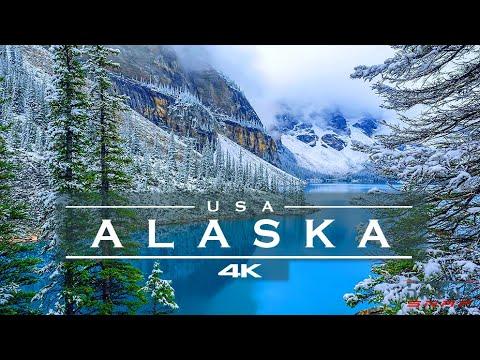 Alaskan winter / Alaska, USA 🇺🇸 - by drone [4K]