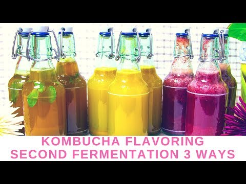 Kombucha flavoring in second fermentation - 3 flavors