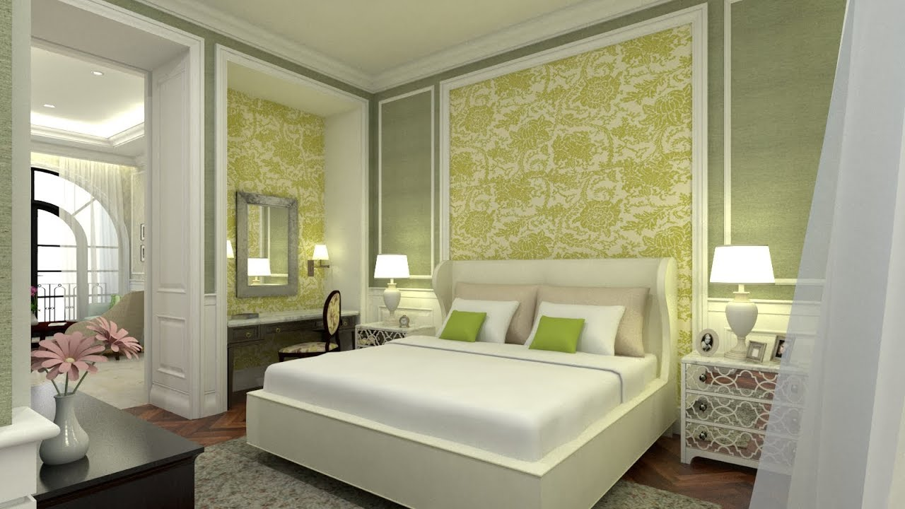 Sketchup Master Bedroom Design 3 + Vray 3.4 Render - YouTube