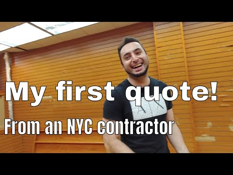 My first NYC Manhattan contractor quote 🤣