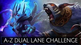 Dota 2 A-Z Dual Lane Challenge - Ursa and Vengeful Spirit