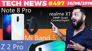 Realme Xt 64mp Launch Redmi Note 8 Pro Image Vivo Z2 Pro Redmi 8 With Quad Cam Mi Band 5-ttn497