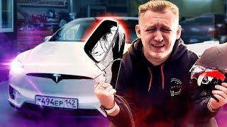 Последствия аварии и разбитое стекло на Tesla Model X ! Сколько стоит ремонт?
