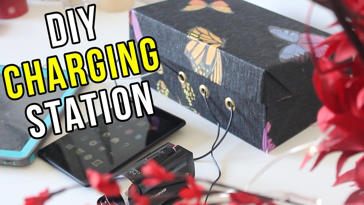 Diy Shoebox Charging Station Youtube
