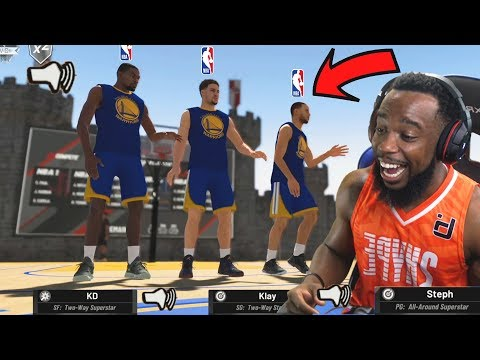 Trash Talking With NBA Superstars Curry And Durant In The Park! NBA 2K19 Park  Court Conquer