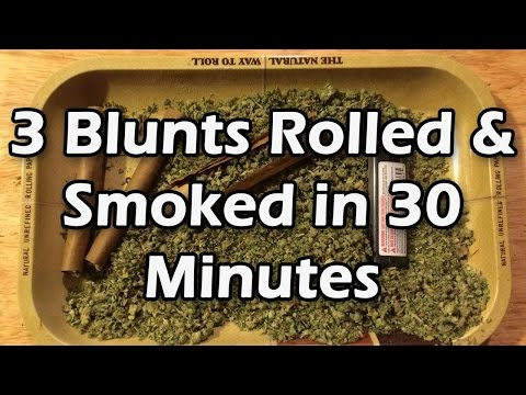 3 Blunts Rolled & Smoked in 30 minutes!