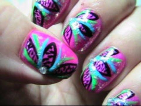 Wild flower nails 1