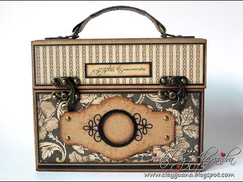 Instructions for making the Suitcase Vintage Style Mini Album