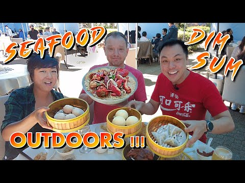 What it's like eating Dim Sum out on the Patio/Parking Lot during covid @ Neptune Seafood Restaurant