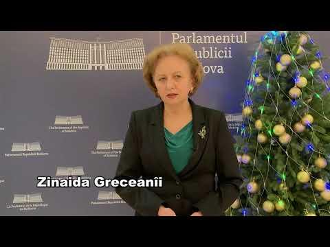 Mesaj, Zinaida Greceanîi, cu ocazia sărbătorilor de iarnă.