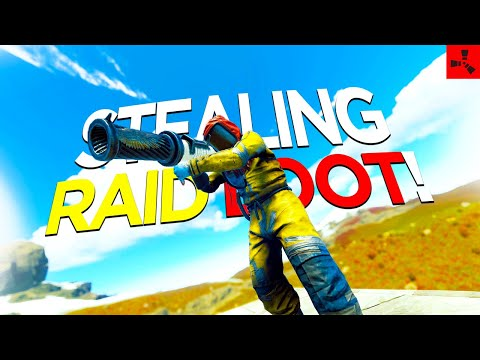 Snatching a RAID from the ROOF CAMPERS! (SOLO VANILLA RUST #9 S64)