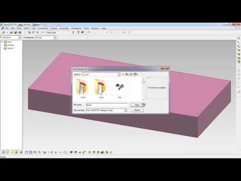 บทที่ 3 การสร้างชิ้นงานลักษณะกล่องและฝาปิด ด้วยโปรแกรม ProDesktop (7/12)