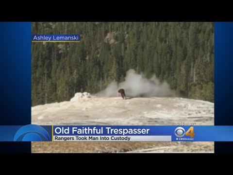 Video: Man Comes Dangerously Close To Yellowstone's Old Faithful