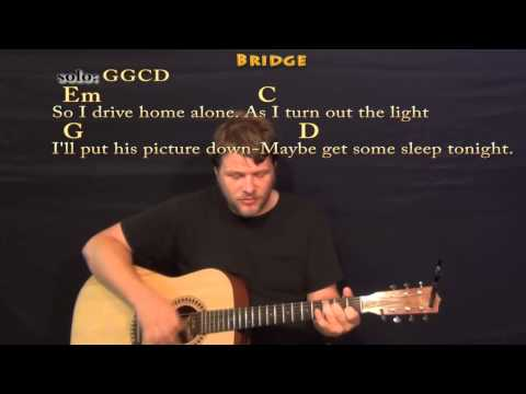 Teardrops on My Guitar (Taylor Swift) Strum Guitar Cover Lesson with Lyrics / Chords