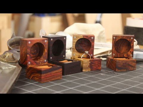 Making a Set of Exotic Wood Ring Boxes