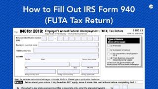 How to Fill out IRS Form 940 (FUTA Tax Return)