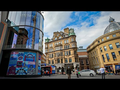Newcastle Upon Tyne, UK - 4K Walking Tour 2020 | Northumberland St. | Post-Lockdown
