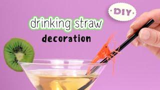 DIY Drinking Straw Decoration - Drinking Straw Craft Idea