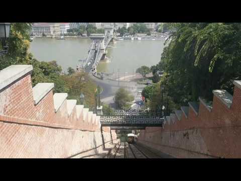 Funicular at Castle Hill in Budapest
