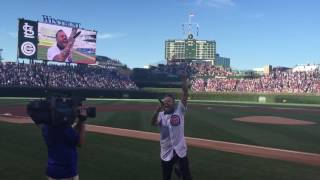 Blue October - Justin Furstenfeld Sings National Anthem Wrigley Field Chicago Cubs vs Cardinals