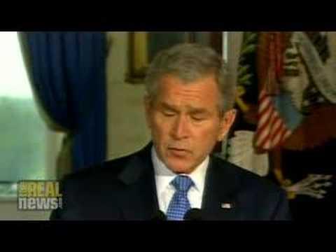 Bush halts Iraq troop withdrawals