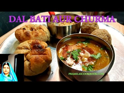 Rajasthani Dal Bati Churma Recipe | How To Make Dal Bati Churma | Rajasthani Most Loved Dish