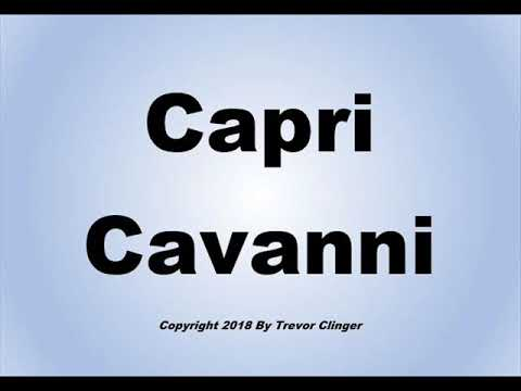 How To Pronounce Capri Cavanni from YouTube · Duration:  27 seconds