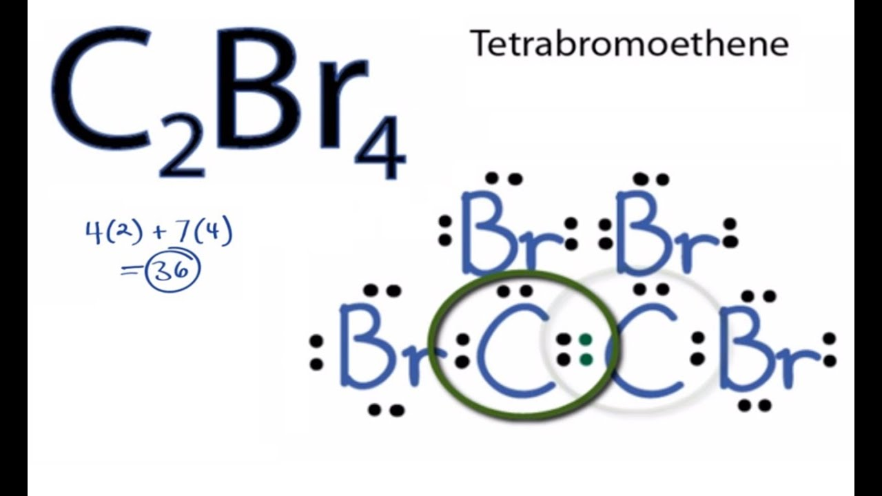 C2br4 Lewis Structure How To Draw The Lewis Structure For C2br4