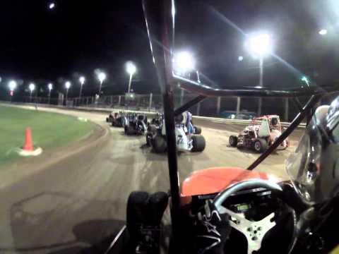 Kam Raceway 6-29-12 First Feature Wreck