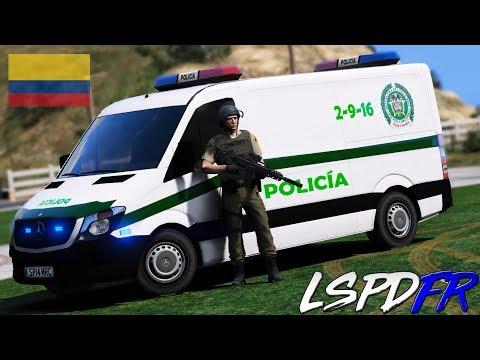 GTA 5 LSPDFR #202 POLICIA NACIONAL DE COLOMBIA - CHOLOS GRAFITIANDO | TheAxelGamer