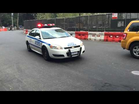 NYPD CRUISER RESPONDING NEAR 59TH STREET IN THE MIDTOWN AREA OF MANHATTAN IN NEW YORK CITY.